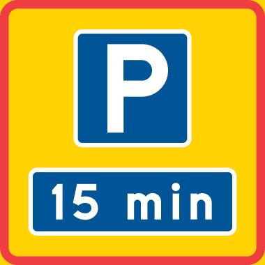 visa begränsad tid för tillåten parkering